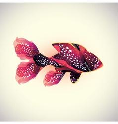 Abstract coral fish vector