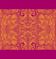 abstract psychedelic fractal pattern burgundy vector image