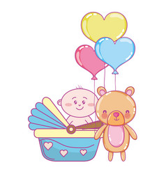 baby shower cartoon vector image