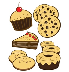 Bakery foods vector