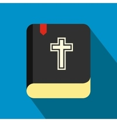 Bible single flat color icon vector image