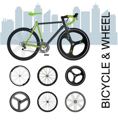 bicycle wheel set vector image vector image