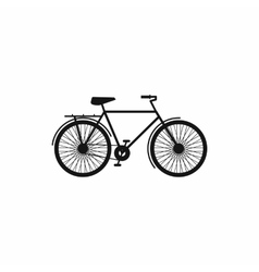 Bike icon in simple style vector image