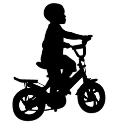 boy riding bicycle vector image