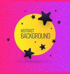 Bright abstract background with stars and round in vector