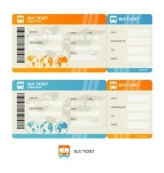 Bus ticket vector
