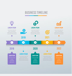 business timeline and diagram template vector image