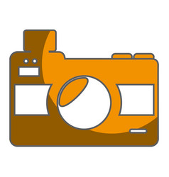 camera photographic isolated icon vector image