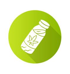 Cbd drink flat design long shadow glyph icon weed vector