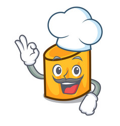 chef rigatoni character cartoon style vector image