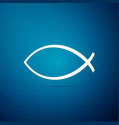 christian fish symbol icon jesus fish symbol vector image
