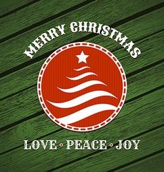 Christmas label with christmas tree vector