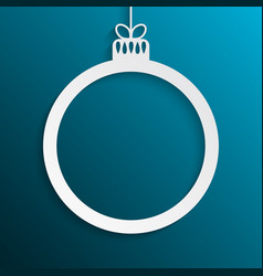 circle christmas tree toy new year frame vector image