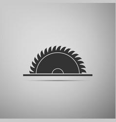 Circular saw blade icon isolated saw wheel vector