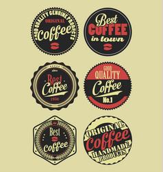 Coffee vintage retro labels 3 vector