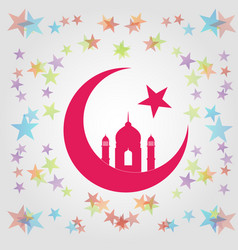 Colorful eid card vector