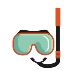 Colorful snorkel stuff graphic vector