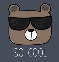 cool bear with sunglasses vector image