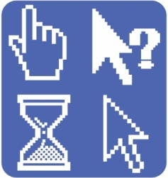 cursor signs vector image