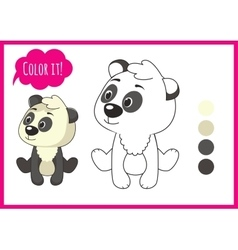 Cute panda Cartoon character isolated on a vector
