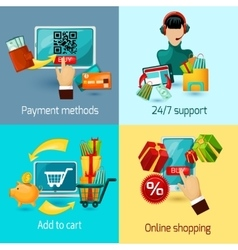 E-commerce Flat Set vector image