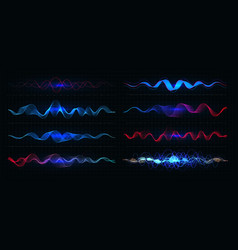 Equalizer pulsation color vector