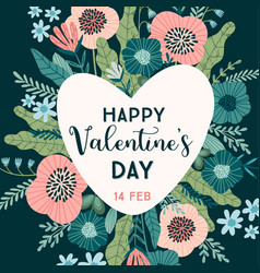 Floral design concept for valentines day and other vector