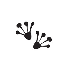 frog feet icon vector image