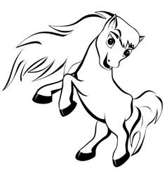Funny horse vector