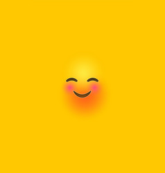 Funny laugh yellow 3d smiley face phone background vector