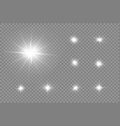 glare on a light background 2 vector image