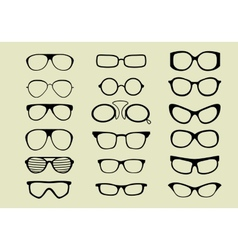 Glasses set isolated white background vector