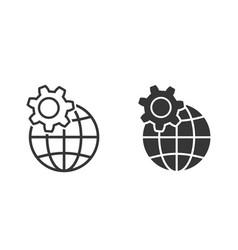 globe icon for graphic and web design vector image