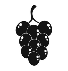 Grape for wine icon simple style vector