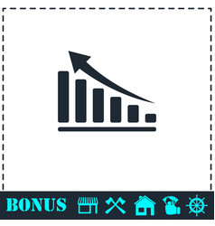 graph icon flat vector image