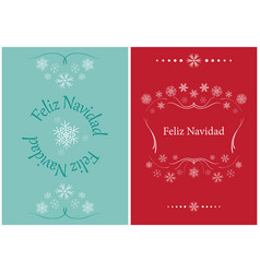 Greeting cards for christmas - feliz navidad vector