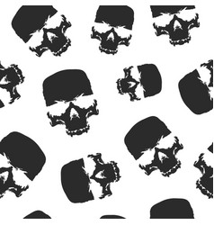 grunge skulls seamless pattern background design vector image