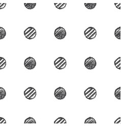 hand drawn circles pattern vector image