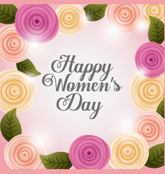 Happy womens day poster decoration vector