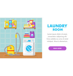 house cleaning service landing page flat template vector image