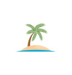 Island logo isolated on white background vector