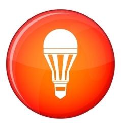 Led bulb icon flat style vector image