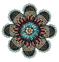 Mandala ethnic ornament vector