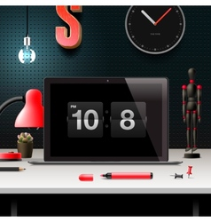 Modern design concept office workspace vector