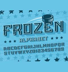 modern professional 3d alphabet frozen vector image