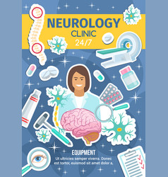 neurology clinic neural healthcare medicine vector image