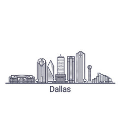 outline dallas banner vector image