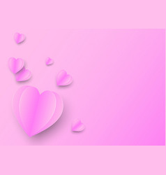 paper heart shaped valentines day greeting card vector image