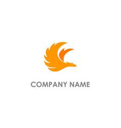 Phoenix bird fly logo vector