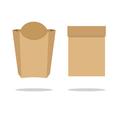 recycle brown paper bag stock flat vector image